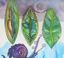 Snail and Leave--Prints only by pboudreau