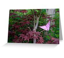 Origami Butterfly in Maple Greeting Card
