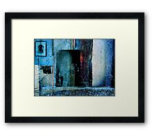 THE FACE BEHIND THE MIRROR Framed Print