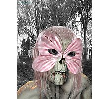 Pretty in Pink .. zombie in a mask Photographic Print
