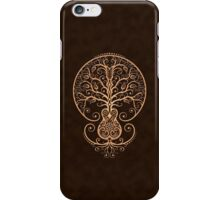 Brown Acoustic Guitar Tree of Life  iPhone Case/Skin