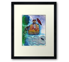 Learning to meditate Framed Print