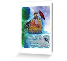 Learning to meditate Greeting Card