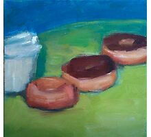 Donuts & Coffee Abstract Print Photographic Print