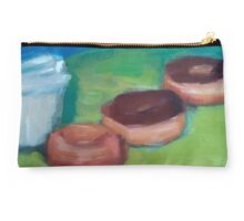 Donuts & Coffee Abstract Print Studio Pouch