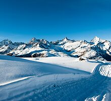 Riffelberg Panorama in Winter by peterwey
