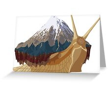 Mountain Snail Greeting Card