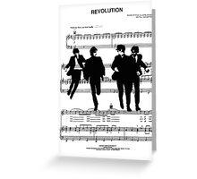 Revolution Sheet Music Greeting Card