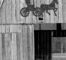 Old Barn with Horse and Buggy Sticker
