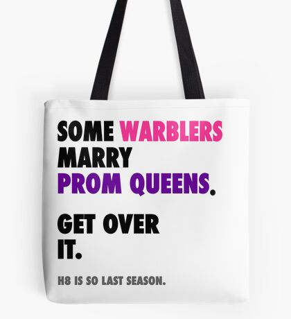 Glee - Some Warblers Marry Prom Queens Tote Bag