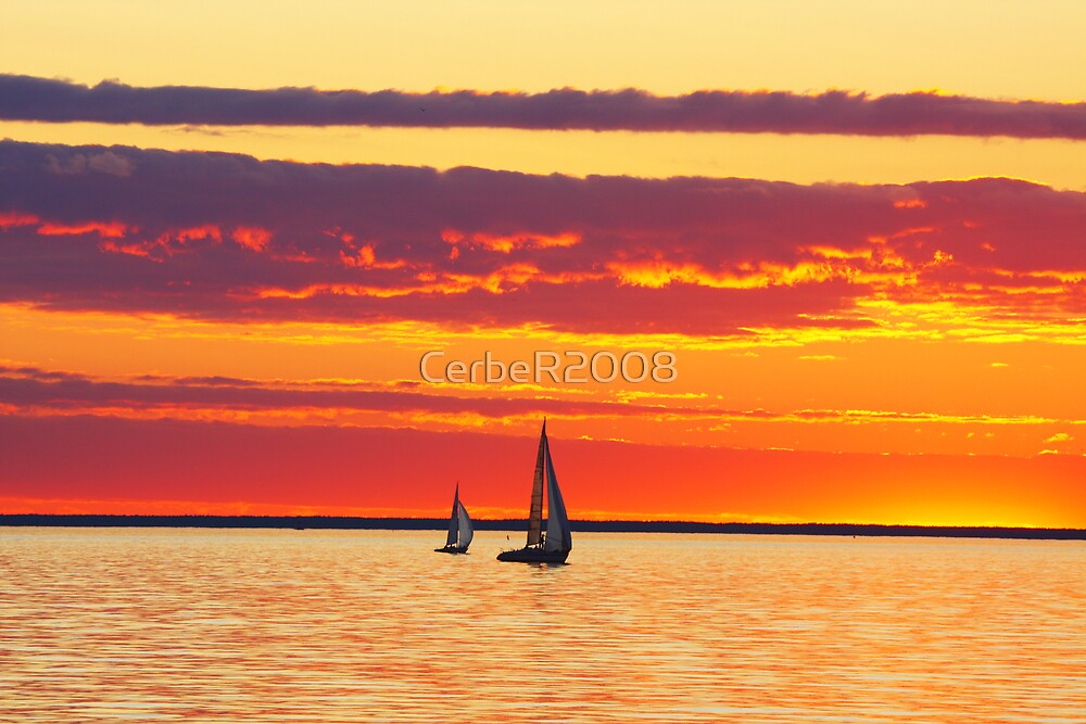 Sailing boat by CerbeR2008