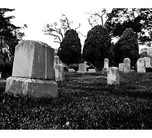 Gravestones & Three Trees Photographic Print