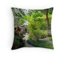 Back Door to Heaven Throw Pillow