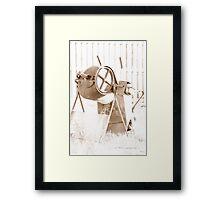 Cement Mixer © Vicki Ferrari Framed Print