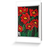 Spring poppies Galicia . Greeting Card