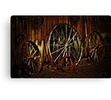 """Wagon Wheels under a Full Moon""... prints and products Canvas Print"