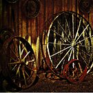 """Wagon Wheels under a Full Moon""... prints and products by © Bob Hall"
