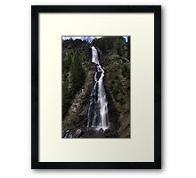 a long fall Framed Print