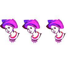Pink head-tie. Photographic Print