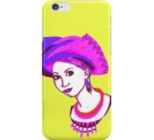 Pink head-tie. iPhone Case/Skin