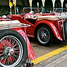 Classic Red MG's Sports cars in Brighton UK by Tenee Attoh