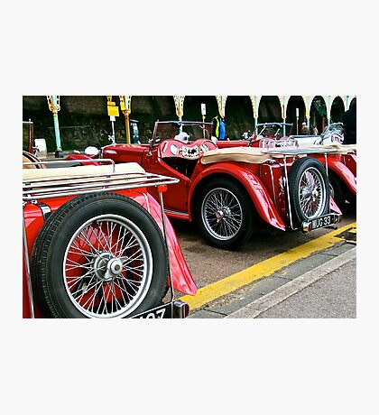 Classic Red MG's Sports cars in Brighton UK Photographic Print