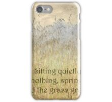 Sitting Quietly... iPhone Case/Skin