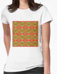 Abstract Vintage Colours QF Womens Fitted T-Shirt