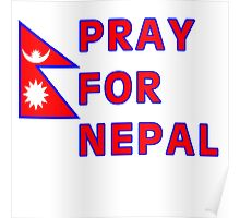 Pray For Nepal (Alternate Design) Poster
