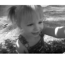 Girl in pigtails Photographic Print