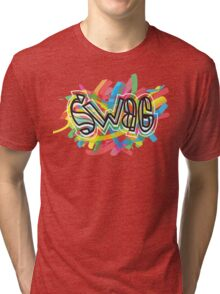 no one on the corner has swagger like us Tri-blend T-Shirt