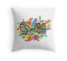 no one on the corner has swagger like us Throw Pillow