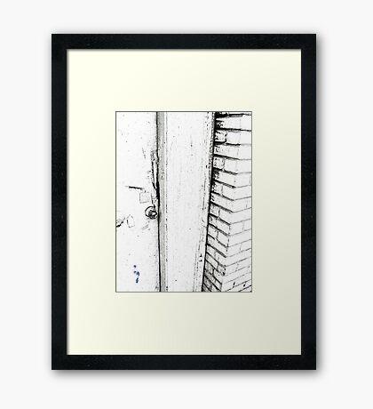 Knock Knock . . . Framed Print