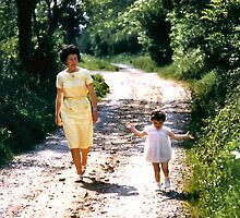 1963 My wife and daughter  by Woodie