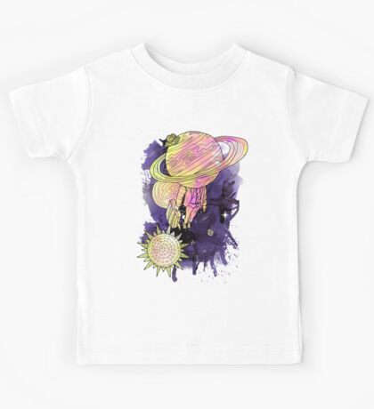 Saturn Takes a vacation full Kids Tee