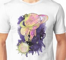 Saturn Takes a vacation full Unisex T-Shirt