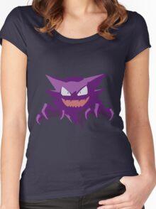 Haunter Pokemon Simple No Borders Women's Fitted Scoop T-Shirt