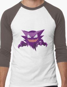Haunter Pokemon Simple No Borders Men's Baseball ¾ T-Shirt