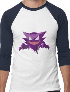 Haunter Pokemon Simple No Borders Men's Baseball ¾ T-Shirt