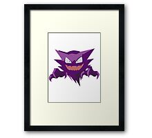 Haunter Pokemon Simple No Borders Framed Print