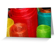Rolls of Colour Greeting Card