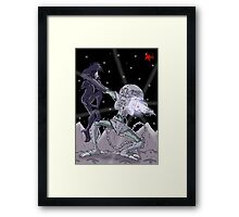 Here Comes the Blow! Framed Print