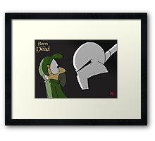 Born to be Dead-  Judgement Day Framed Print