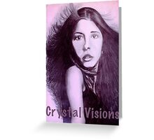 Crystal Visions Purple Greeting Card