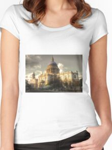 St Paul's Cathedral Women's Fitted Scoop T-Shirt