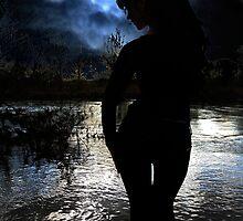 At night, alone / Nachts, allein by Jan Braun