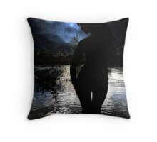 At night, alone / Nachts, allein Throw Pillow