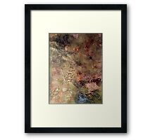 Scribbles on gold and copper Framed Print