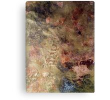 Scribbles on gold and copper Canvas Print