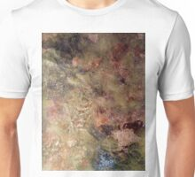 Scribbles on gold and copper Unisex T-Shirt